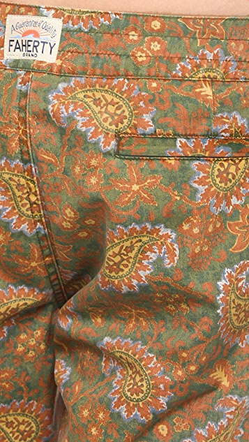 Faherty Indo Paisley Board Shorts