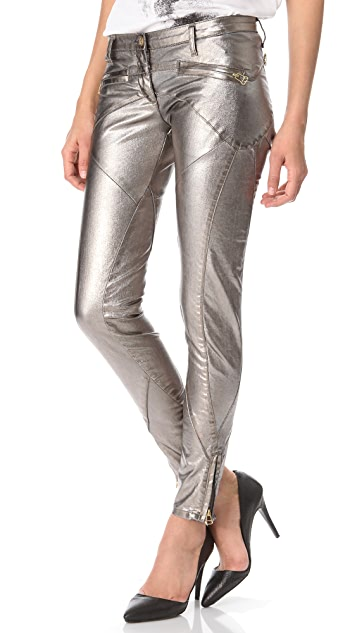 Faith Connexion Lizy Metallic Denim Pants