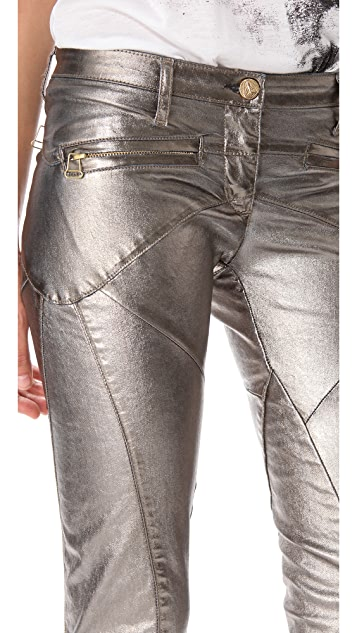 Faith Connexion Lizy Metallic Denim Pants
