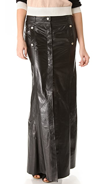 Faith Connexion Leather Maxi Skirt