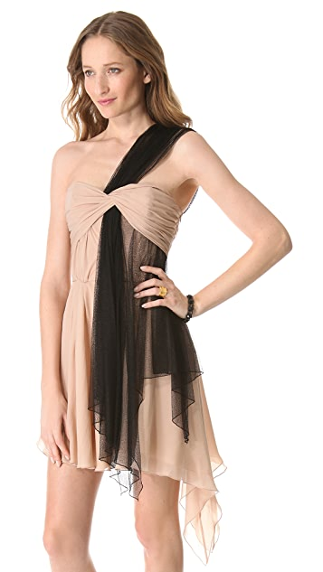 Faith Connexion Draped One Shoulder Dress