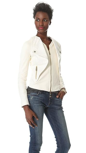 Faith Connexion Croco Leather Jacket