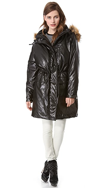 Faith Connexion Down Jacket with Fur Trim