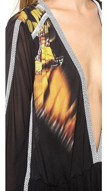 Faith Connexion Butterfly Print Gown