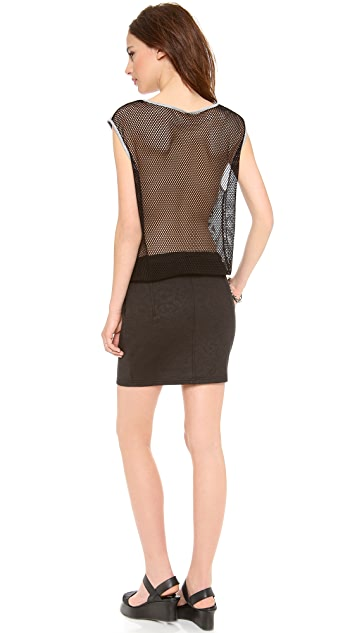 Faith Connexion Sleeveless Dress with Mesh