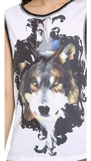 Faith Connexion Wolf Printed Tank Top