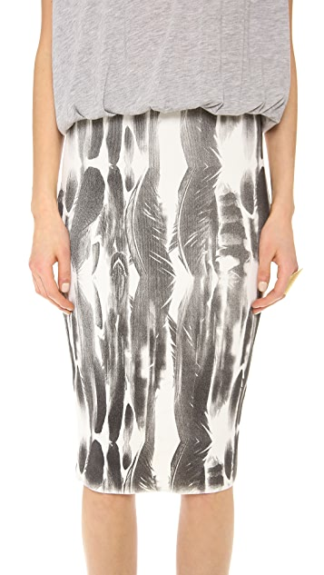 Faith Connexion Feather Print Dress