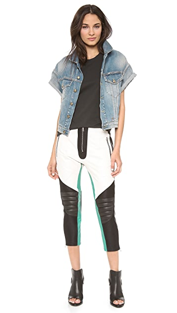 Faith Connexion Multico Leather Biker Pants