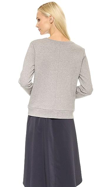 Faith Connexion Embroidered Fleece Sweater