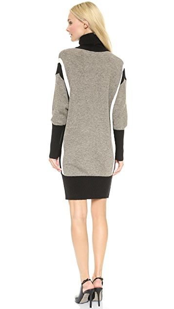 Faith Connexion Mixed Knit Sweater Dress
