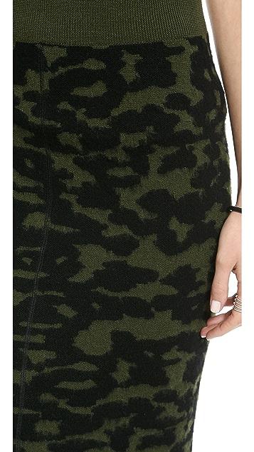 Faith Connexion Jacquard Knit Skirt
