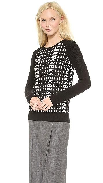 Faith Connexion Geometric Jacquard Sweater