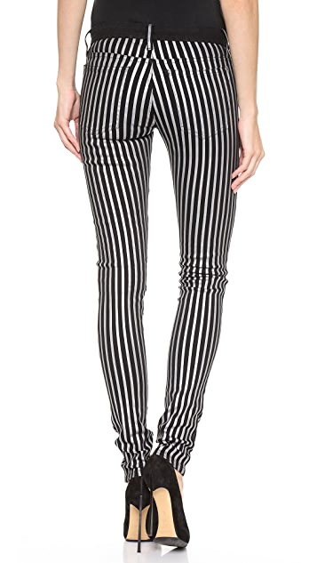 Faith Connexion Flex Striped Coated Jeans
