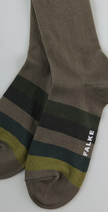 Falke Block Stripes Knee High Socks