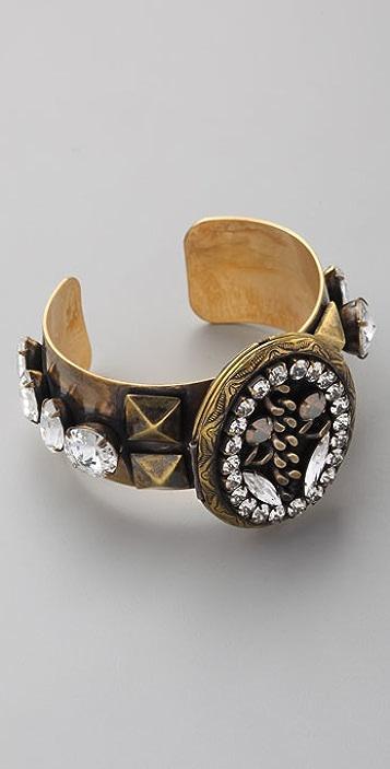 Fallon Jewelry Deadly Pearl Locket Cuff
