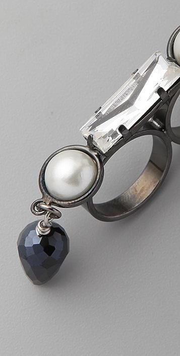 Fallon Jewelry Bourdin Double Finger Ring