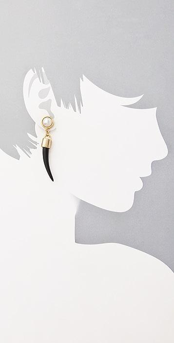 Fallon Jewelry Bijan Pearl Horn Earrings