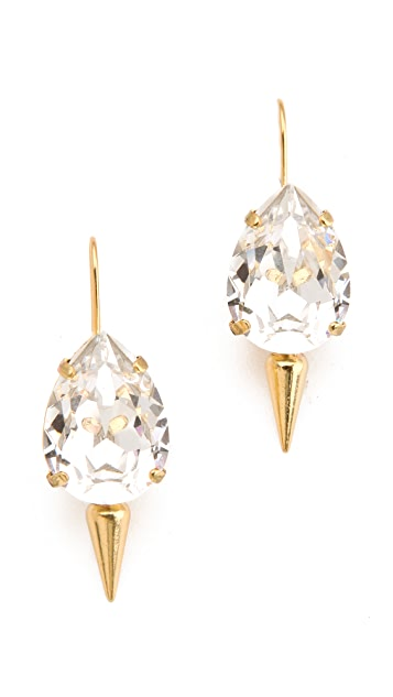 Fallon Jewelry Classique Pear Micro Spike Earrings