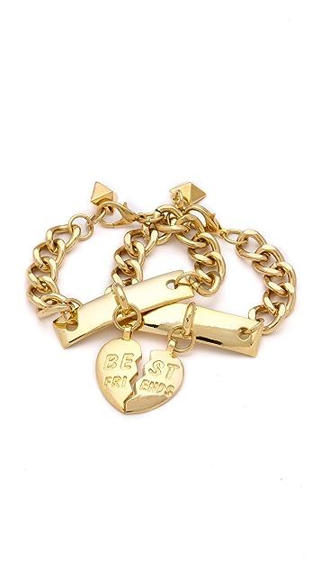 Fallon Jewelry BFF ID Bracelet Set