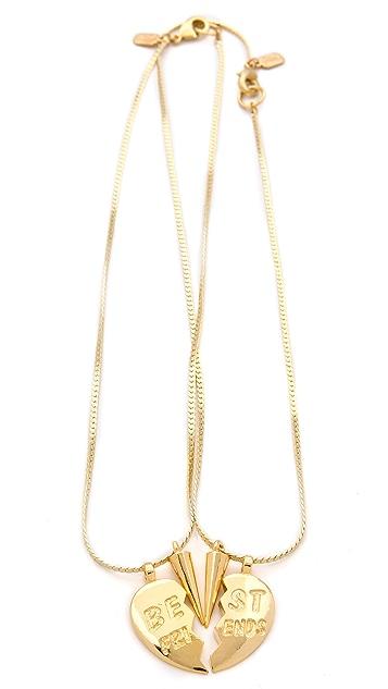 Fallon Jewelry BFF Charm Necklace Set