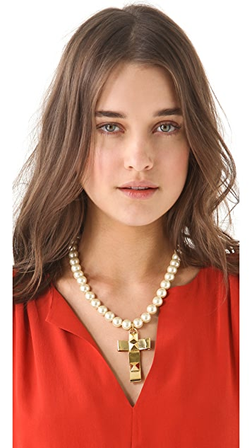 Fallon Jewelry Bow Cross Necklace