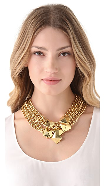 Fallon Jewelry Stud Cluster Necklace
