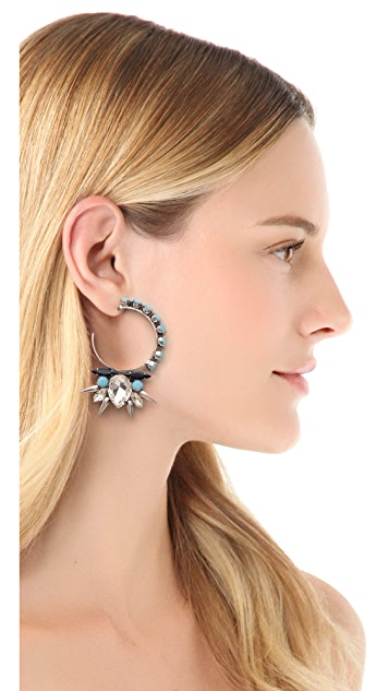 Fallon Jewelry Roswell Micro Spike Cluster Hoop Earrings