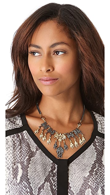 Fallon Jewelry Winged Bib Necklace