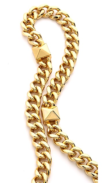 Fallon Jewelry Extra Long Pyramid Strand Necklace