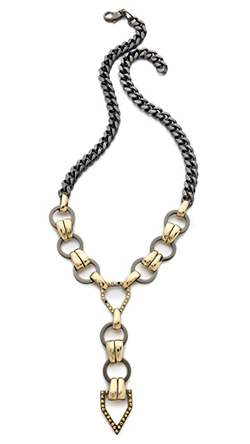 Fallon Jewelry Hex Long V Necklace
