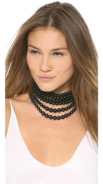 Fallon Jewelry Layered Swarovski Bead Choker