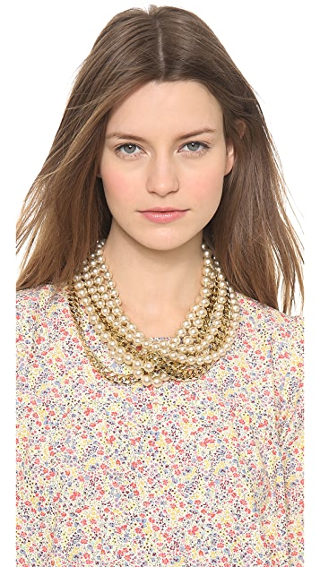 Fallon Jewelry Swarovski Pearl Layered Necklace