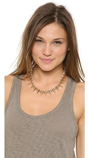 Fallon Jewelry Swarovski Imitation Pearl Tipped Spike Necklace