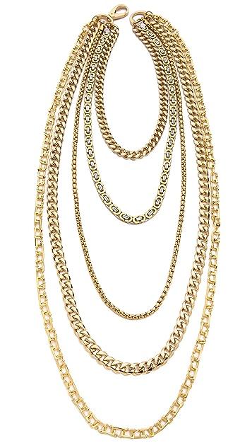 Fallon Jewelry Oversized Clasp Draped Biker Necklace