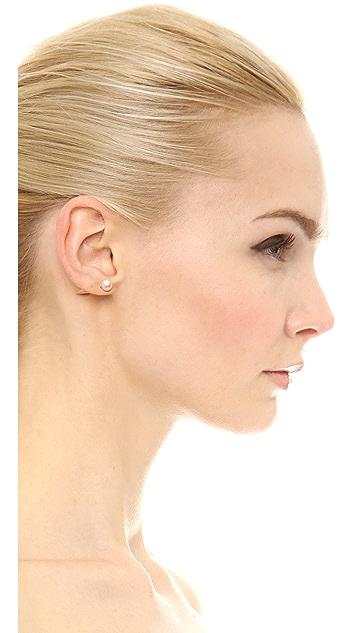 Fallon Jewelry Swarovski Pearl Microspike Earrings