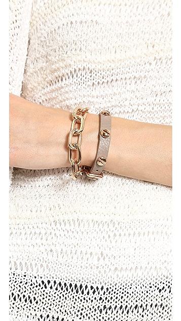 Fallon Jewelry Shalom Long Link Bracelet