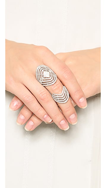 Fallon Jewelry Pave Labyrinth Double Ring