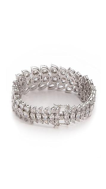 Fallon Jewelry Graduated Cluster Cuff Bracelet