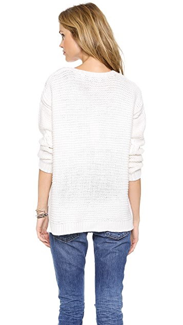 525 Traveling Cable Boyfriend Sweater