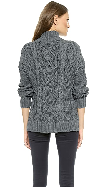 525 America XO Cable Knit Sweater
