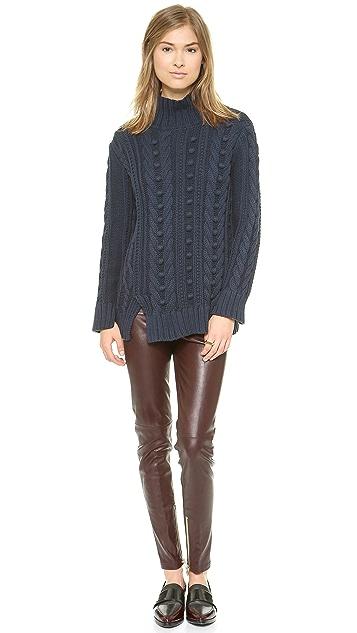 525 America Popcorn Turtleneck Sweater