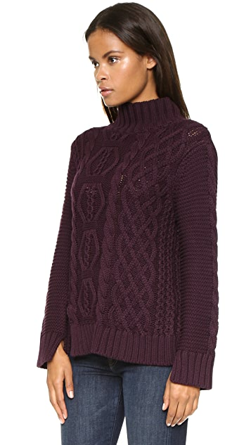 525 America Hand Knit Mock Turtleneck Sweater