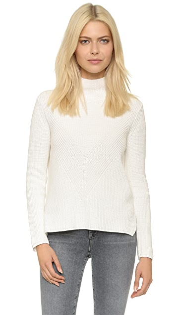 525 America Shaker Mock Neck Sweater