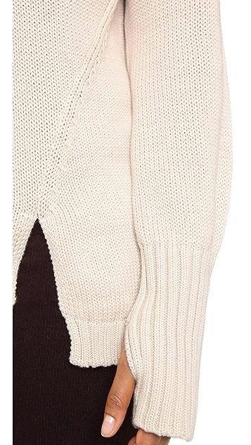 525 America Asymmetrical Turtleneck Sweater