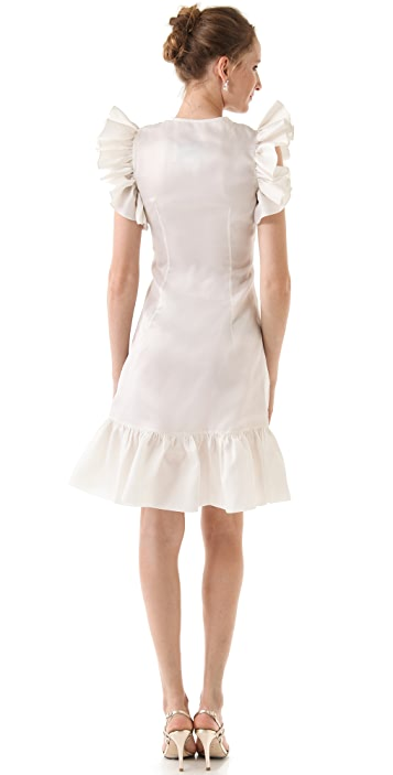 Fancy Katie Ruffle Sleeve Dress