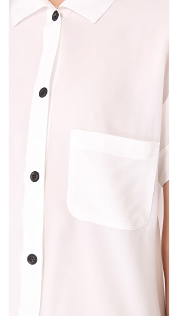 Friends & Associates Silk Shirt Dress