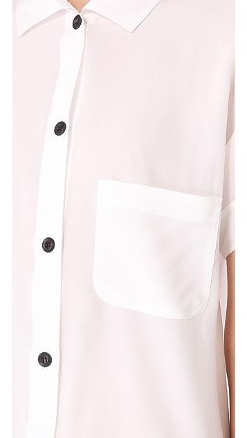 Friends & Associates Silk Shirt Dress