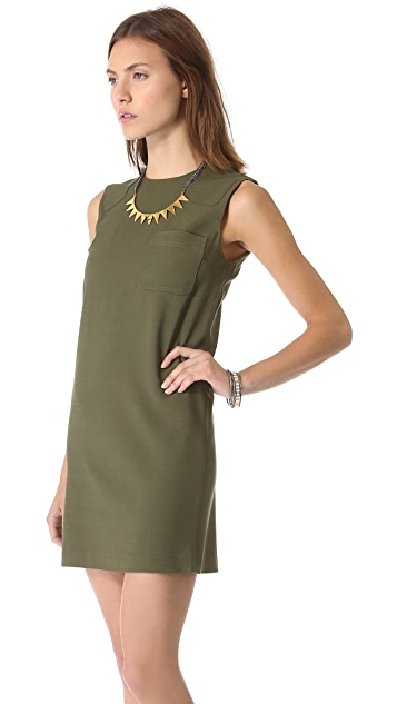 Friends & Associates Cynna Shoulder Patch Dress