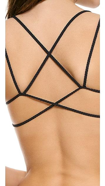 Frankies Bikinis Kaia Seamless Braided Bikini Top
