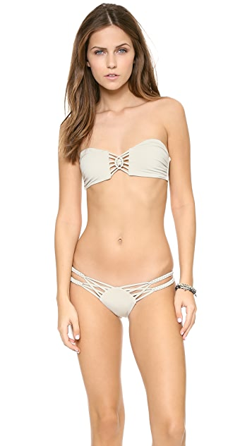 Frankies Bikinis Mary Jane Bandeau Bikini Top